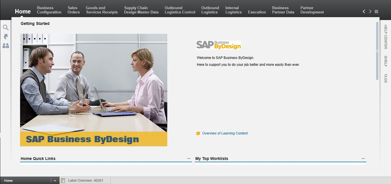 SAP ByD User Setup