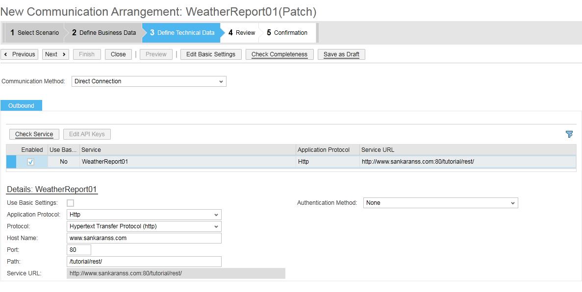 2. arrangement 3 rest webservice sap byd