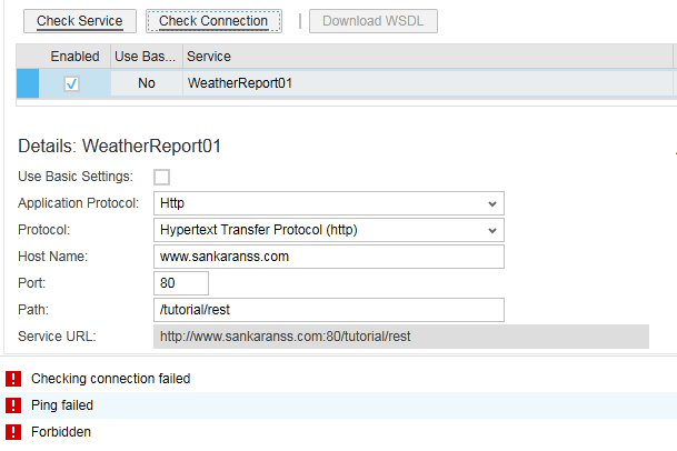 2. arrangement test error rest webservice sap byd